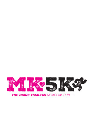 MK5K logo in fuschia and black with a running figure.