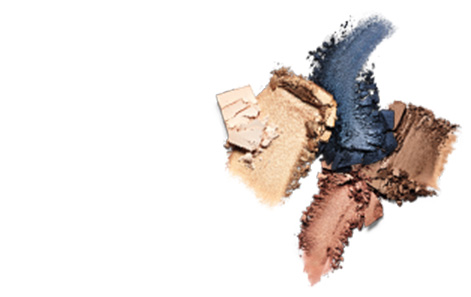 Mary Kay Chromafusion Eye Shadow, Highlighter and Contour product rubs against a white background.