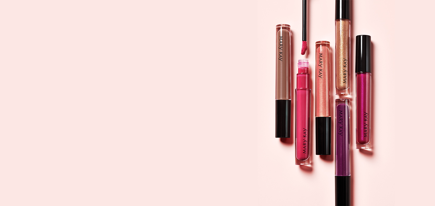 Multiple shades of Mary Kay Unlimited Lip Gloss.