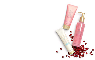 Limited edition Satin Hands® Pampering Set in Pomegranate.