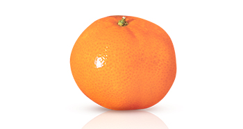 Visual representation from Mary Kay of Vitamin C as an orange against a white background.