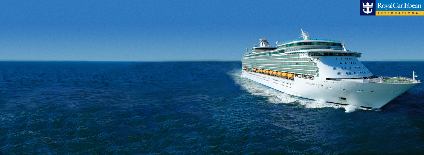 Royal Caribbean cruise ship in open waters.