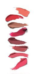 Model holding the Petite Palette with four eye shadows in the Petite Palette.