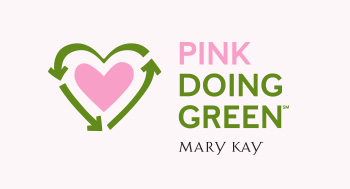 A photo of the Mary Kay Pink Doing Green logo