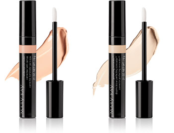 Help neutralize dark circles and brighten the undereye area by applying Mary Kay Undereye Corrector with the applicator. Next, conceal and camouflage minor imperfections like blemishes, dark shadows and age spots with Mary Kay Perfecting Concealer.
