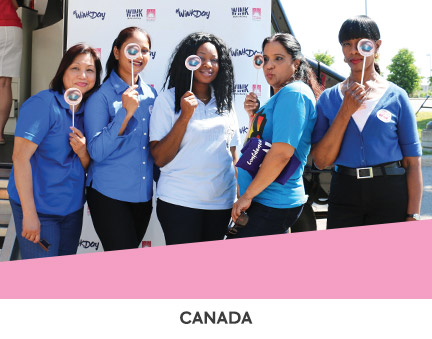 Mary Kay representatives supporting the Look Good Feel Better program in Canada.