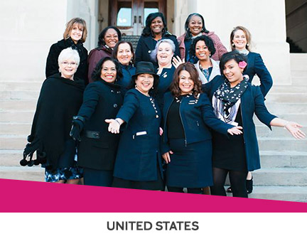 Mary Kay representatives participating in the Lobbying for Good program in the United States.