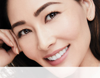 Model wearing a natural-looking brow from the Brow Secrets makeup artist look by Mary Kay makeup artist Keiko Takagi.