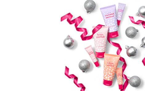 Limited-Edition Mary Kay Hand Cream and Lip Balm sets styled with gifting accessories